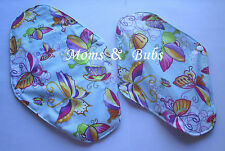 Pack of 2 Women's Reusable Menstrual Cloth Sanitary Pads Butterfly Charcoal