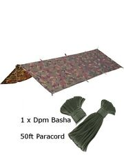 DPM Basha & Paracord Set Sleeping Cover Sheet Military Army SAS Cadet Basher
