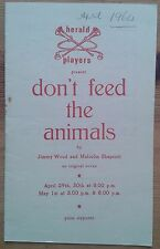 Don't Feed The Animals programme Guildford Herald Players 1964 Sheila Hensby