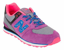 NEW BALANCE 574 Gray Purple Pink Womens 8 (6.5Y) Limited NIB