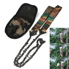 Fashion Camo Survival Hand ChainSaw Emergency Camping Kit Tool Pocket Gear Pouch