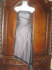 NWT Pink With Black Overlay Strapless Dress From Mandee