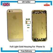 NEW Full Housing Alloy Metal Hard Replacement Case For IPHONE 5s Light Gold