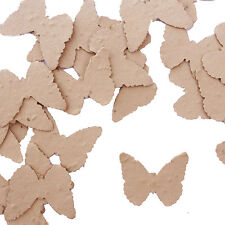 Latte Brown Butterfly Plantable Wildflower Seed Recycled Paper Confetti 100 pack