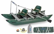 Sea Eagle 375 Foldcat Inflatable Pro Angler Guide Pontoon Style Fishing Package.