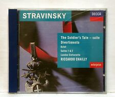 RICCARDO CHAILLY - STRAVINSKY the soldier's tale suite, divertimento DECCA CD NM