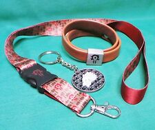 World of Warcraft Horde Metal Keychain, Lanyard & Wristguard Bracelet WoW