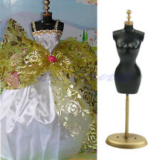 "For Barbie Doll Display Holder Dress Clothes Gown Mannequin Model Stand 9.8"" New"