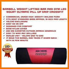 BARBELL WEIGHT LIFTING BAR PAD GYM LEG SQUAT OLYMPIC BAR PILL UP GRIP CROSSFIT