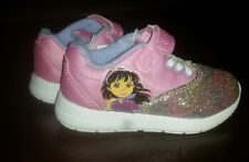 Dora And Friends Toddler Sneakers Shoes. Girls Size 12. Pink. Glitter. EUC.