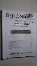 Denon tu-280 service manual original repair book stereo tuner radio