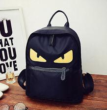 men&women canvas Monsters-Little Devil eyes shoulder bag backpack schoolbags