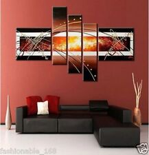 5PC MODERN ABSTRACT HUGE WALL ART OIL PAINTING ON CANVAS (With framed)