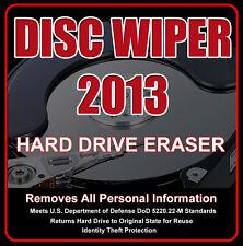 HARD DRIVE ERASER • Securely REMOVES Window 8* • 7 • VISTA • XP on PC/LAPTOP
