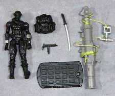 """GI Joe 2009 Rise of Cobra """"SNAKE EYES"""" Ninja Commando 100% Complete C9 shape ROC"""