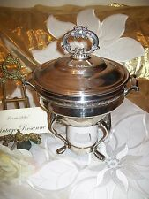 Antique Silver Plated Chafing Dish Lid & Srand Viking Canada EP Copper & Brass