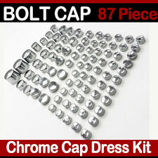 87 Piece Chrome  Bolt Toppers Cover Caps Kit  for Harley Softail & Bolt Nut