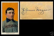 LOT of 25 REPRINT 1909 T206 HONUS WAGNER PIRATES REPRINT cards with auto
