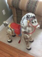 Antique MOBO Metal Horse c. 1940's Bronco Toy London England Pressed Tin NY