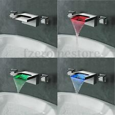 LED Waterfall -Bathroom Faucet Mixer Taps Wall Mounted Handheld Tub Shower Set
