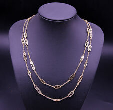 Brand Designer Double Layer Necklaces Gold Long Chain Bracelets For Man Women