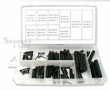 New 120-Pc. Steel Split Spring Dowel Tension Roll Pin Assortment Fasteners Snap