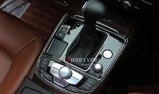 For Audi A6 C7 2012-2015 Carbon Fiber Gear Shift Panel Surround Stripe Trim