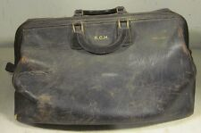 Vintage Oshkosh Leather Large Doctor's Bag Style Luggage Carry