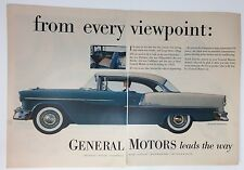 Original Print Ad 1954 GENERAL ELECTRIC 2 Page Viewpoint Bel Air Sport Coupe