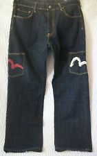 Evisu Yemane Heritage Men  Denim Five Button Fly Jeans Size 36