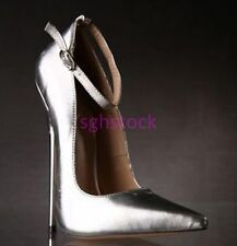 SG Ladies Pointy Toe Stilettos 18CM High heels Ankle Strap Buckle Party Shoes UK