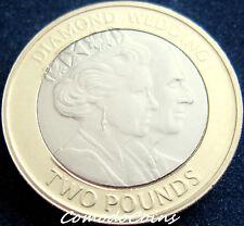 2007 Gibraltar £2 Two Pounds Coin Cover Stamps Royal Diamond Wedding BUNC Rare