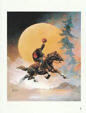 "1996 Full Color Plate "" Headless Horseman 2 "" by Frank Frazetta Fantastic GGA"