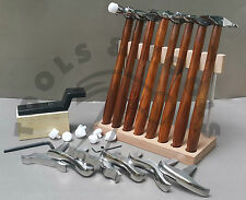 8 TEXTURING HAMMER & 6 MINIATURE STAKE SET DESIGNING FORMING JEWELRY METAL SMITH