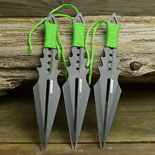 "3 Pc 7 1/2"" Ninja Tactical Zombie Hunter Combat Throwing Knife Set With Sheath"