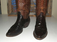 Vintage Exotic Alligator Crocodile Cowboy Western Boots Mens 9 D