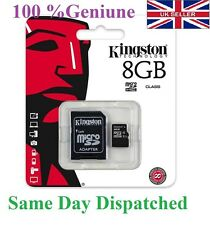 Genuine Kingston 8GB MICRO SD Memory CARD PHONE TABLET CAMERA Console SDC4/8GB