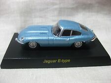 1:64 Kyosho Jaguar E type Blue Diecast Model Car