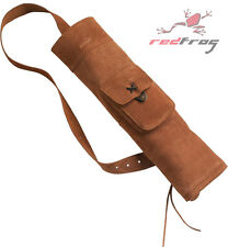 New BEAR Traditional Archery Suede Leather Back Quiver Longbow Flat Bow