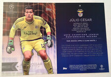 2016 Topps UEFA Champions League 5x7 GOLD (#/10 Made) JULIO CESAR SL Benfica #54