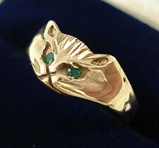 Vintage 9ct Gold Cat Ring.