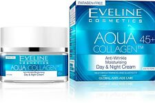 Eveline Cosmetics Aqua Collagen Anti-Wrinkle Moisturizing Day & Night Cream 45+