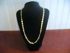 """Vintage Goldtone Metal Filagree Coil Link Chain 45.5"""" Necklace"""