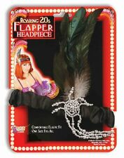 Roaring 20s Charleston Flapper Black Headpiece and Feather Costume Accessory