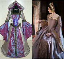 MEDIEVAL WEDDING DRESS 22-24-26 2XL-3XL-4XL GOTHIC WITCH COSTUME TUDOR LARP LOTR