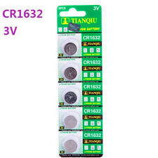 3V CR1632 DL1632 ECR1632 3 Volt Button Coin Cell Battery for CMOS watch toy x5 ♫