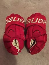 BAUER APX DETROIT RED WINGS WINTER CLASSIC NHL PRO STOCK HOCKEY GLOVES 14""