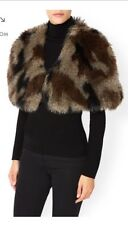 BNWT Women's / Ladies MONSOON ACCESSORIZE Vintage Fur/Feather Cape Bolero Jacket