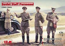 ICM 1/35 WWII Soviet Staff Personnel # 35612