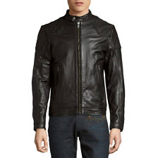 DIESEL LALETA LEATHER JACKET BLACK NEW SZ M